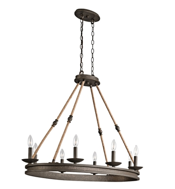 Kichler 43422OZ Kearn Collection Chandelier 8 Light in Olde Bronze