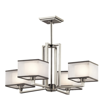 Kichler 43438NI Kailey Collection Chandelier 4 Light in Brushed Nickel