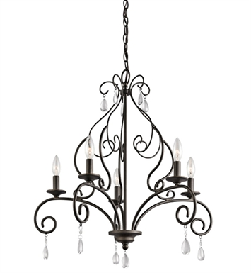 Kichler 43448OZ Marcele Collection Chandelier 5 Light in Olde Bronze