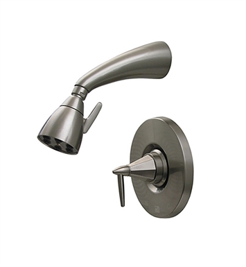 Whitehaus 614.858SH-P Blairhaus Monroe Pressure Balance Valve with Showerhead and Octagon-shaped Lever Handle With Finish: Pewter