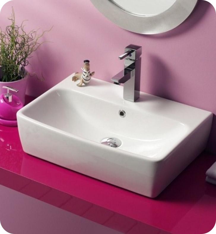 Nameeks 061600 u cerastyle bathroom sink for Nameeks bathroom sinks