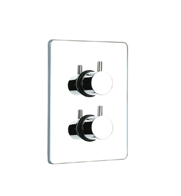 Whitehaus WHLX785T-C Luxe Thermostatic Valve with Square Plate With Finish: Polished Chrome