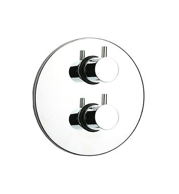 Whitehaus WHLX783T-C Luxe Thermostatic Valve with Round Plate With Finish: Polished Chrome