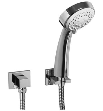 Graff G-8659-PC Multi Function Round Handshower with Wall Bracket With Finish: Polished Chrome