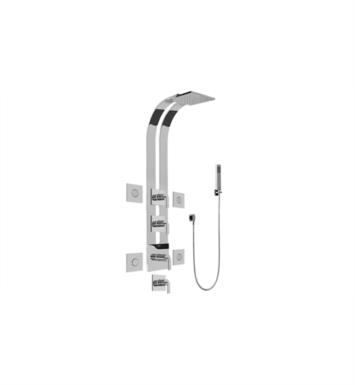 "Graff GE1.120A-LM40S-SN Immersion 51"" Thermostatic Ski Shower Set with Body Sprays and Handshower With Finish: Steelnox (Satin Nickel) And Rough / Valve: Trim + Rough"