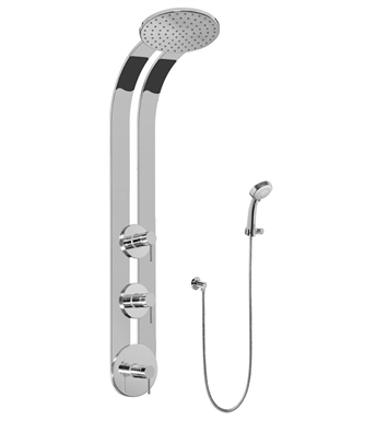 Graff GD2.030A-LM37S-SN Round Thermostatic Ski Shower Set with Handspray With Finish: Steelnox (Satin Nickel)