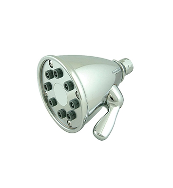 Whitehaus WH139-C Showerhaus Round Showerhead with 8 Spray Jets and Adjustable Ball Joint With Finish: Polished Chrome