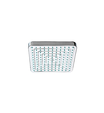Whitehaus WHOSA28SQ-8 Showerhaus Square Rainfall Showerhead with Decorative Face, Rubber Nozzle Tips and Adjustable Ball Joint