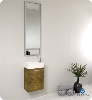 Fresca FVN8002ZB Pulito Small Modern Bathroom Vanity with Tall Mirror in Zebra