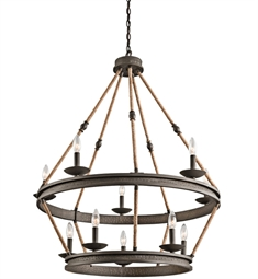 Kichler Kearn Collection Chandelier 10 Light in Olde Bronze