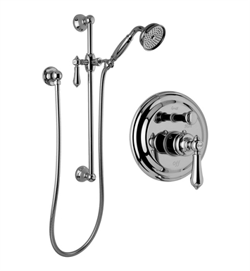 Graff G-7117-LM34S-OB Traditional Pressure Balancing Shower Set with Handshower and Slide Bar With Finish: Olive Bronze