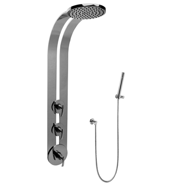 Graff GD2.020A-LM24S-PC Round Thermostatic Ski Shower Set with Handspray With Finish: Polished Chrome