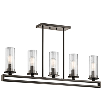 Kichler 42124OZ Kayde Collection Chandelier Linear 5 Light in Olde Bronze