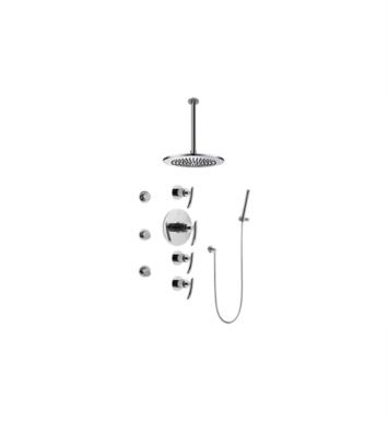 Graff GB1.221A-LM24S-SN Tranquility Contemporary Square Thermostatic Set with Body Sprays and Handshower With Finish: Steelnox (Satin Nickel) And Rough / Valve: Trim + Rough