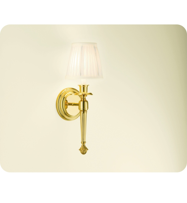 Robern MLLWFYPB Foyer Wall Sconce Light in Polished Brass