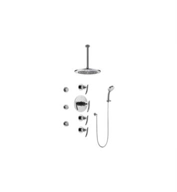 Graff GB1.231A-LM24S Tranquility Contemporary Square Thermostatic Set with Body Sprays and Handshower