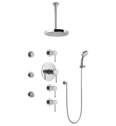Graff GB1.231A-LM37S Contemporary Square Thermostatic Set with Body Sprays and Handshower