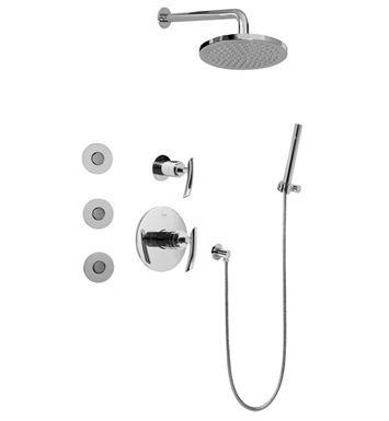 Graff GB5.122A-LM24S-SN Full Thermostatic Shower System with Transfer Valve With Finish: Steelnox (Satin Nickel)