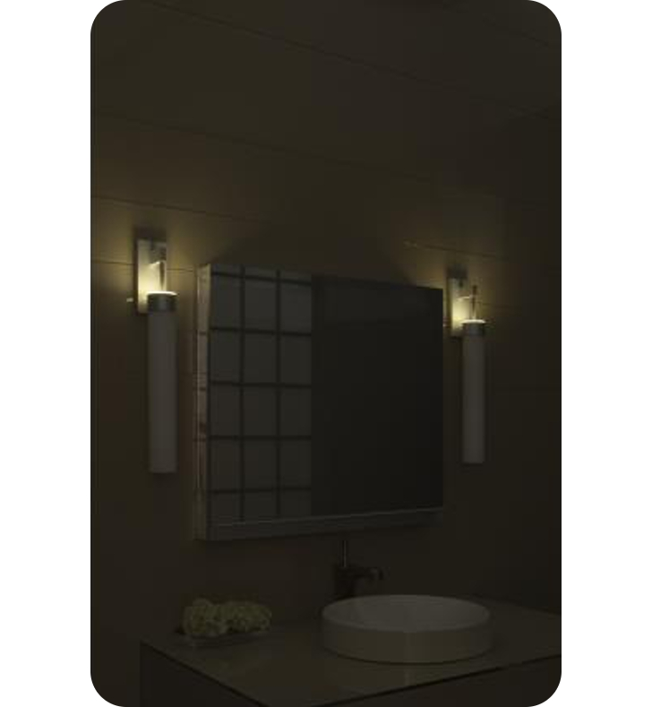 Wall Sconce Night Light : Robern UFLW Uplift Wall Sconce Light with Night Light