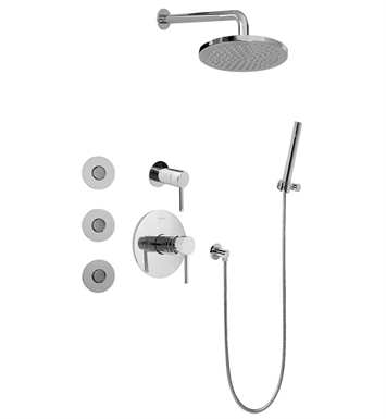 Graff GB5.122A-LM37S-PN Full Thermostatic Shower System with Transfer Valve With Finish: Polished Nickel