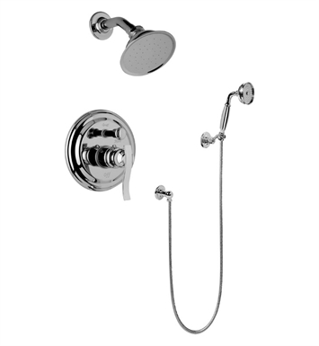 Graff G-7167-LM20S-PC Traditional Pressure Balancing Shower Set with Handshower With Finish: Polished Chrome