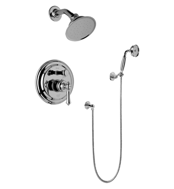 Graff G-7167-LM15S-AU Traditional Pressure Balancing Shower Set with Handshower With Finish: 18K Gold Plated