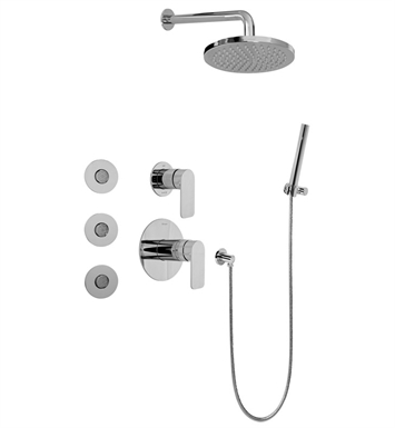 Graff GB5.122A-LM42S-PC Full Thermostatic Shower System with Transfer Valve With Finish: Polished Chrome
