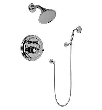 Graff G-7167-C2S-SN Traditional Pressure Balancing Shower Set with Handshower With Finish: Steelnox (Satin Nickel)