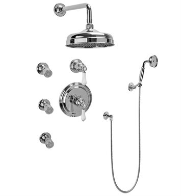 Graff GA5.222B-LC1S-SN Full Thermostatic Shower System with Transfer Valve With Finish: Steelnox (Satin Nickel)