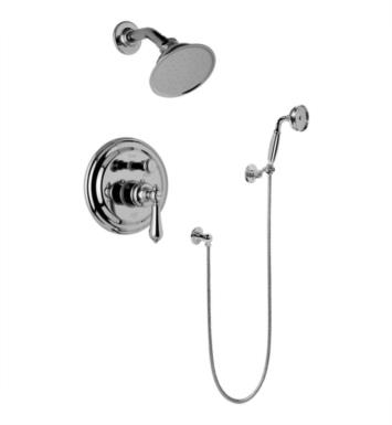 Graff G-7167-LM34S-PC Canterbury Full Pressure Balancing System Shower with Handshower With Finish: Polished Chrome And Rough / Valve: Trim + Rough