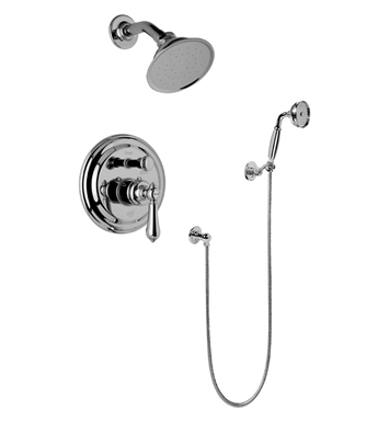 Graff G-7167-LM34S-SN Traditional Pressure Balancing Shower Set with Handshower With Finish: Steelnox (Satin Nickel)