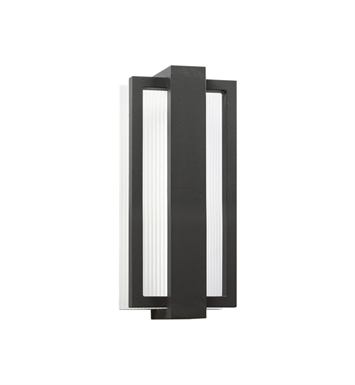 Kichler 49492SBK Sedo Collection 1 Light Outdoor Wall Sconce in Satin Black