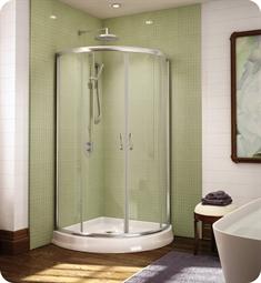 "Fleurco FAX364 Signature Capri Arc 36"" Frameless Curved Glass Sliding Shower Doors"
