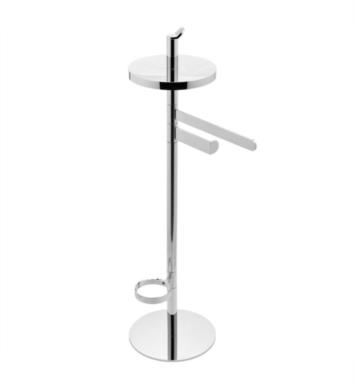 "Graff G-9155-PN Sento 9 7/8"" Free Standing Tissue Holder, Toilet Brush Holder and Towel Bar With Finish: Polished Nickel"