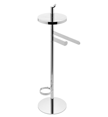 Graff G-9155-WT Free Standing Tissue Holder,Toilet Brush Holder and Towel Bar With Finish: Architectural White