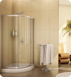 Fleurco FA363 Signature Capri Round 3 Frameless Curved Glass Sliding Shower Doors