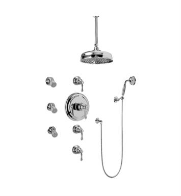Graff GA1.221B-LM15S-PC Nantucket Traditional Thermostatic Set with Body Sprays and Handshower With Finish: Polished Chrome And Rough / Valve: Trim + Rough