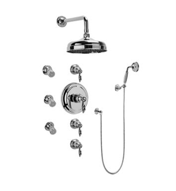 Graff GA1.222B-LM14S-OB Topaz Traditional Thermostatic Set with Body Sprays and Handshower With Finish: Olive Bronze And Rough / Valve: Trim + Rough