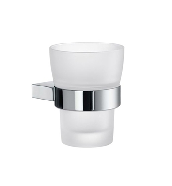 Smedbo AK343 Air Holder with Glass Tumbler in Polished Chrome