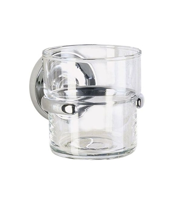 Smedbo K243 Villa Holder with Glass Tumbler in Polished Chrome