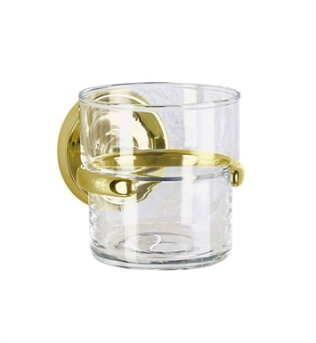 Smedbo V243 Villa Holder with Glass Tumbler in Polished Brass