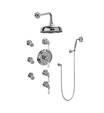 Graff GA1.222B-LC1S-PN Canterbury Traditional Thermostatic Set with Body Sprays and Handshower With Finish: Polished Nickel And Rough / Valve: Rough