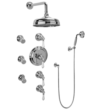 Graff GA1.222B-LC1S-SN Traditional Thermostatic Set with Body Sprays and Handshower With Finish: Steelnox (Satin Nickel)