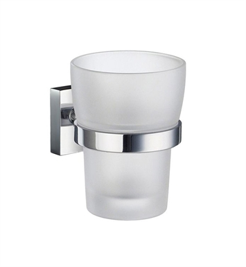 Smedbo RK343 House Holder with Glass Tumbler in Polished Chrome