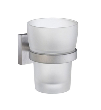 Smedbo RS343 House Holder with Glass Tumbler in Polished Chrome