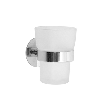 Smedbo YK343 Time Holder with Glass Tumbler in Polished Chrome