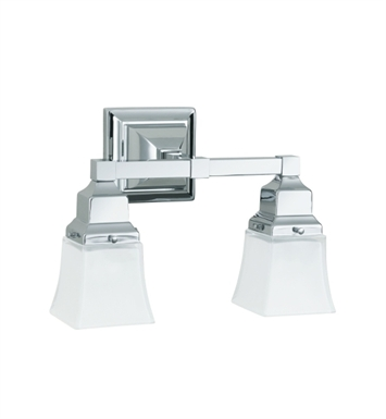 Robern MLLWSCHDD M Series MLLWS Double Wall Sconce Light in Chrome