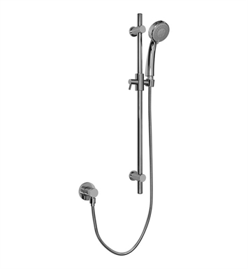 Graff G-8680-SN Contemporary Handshower with Wall Mounted Slide Bar With Finish: Steelnox (Satin Nickel)
