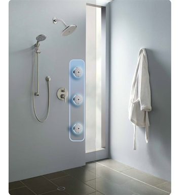 "Hansgrohe ESHOWERSYS3 ""E"" Shower System with Handshower Set and Bodysprays in Chrome"