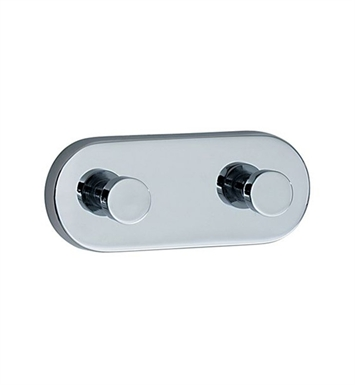 Smedbo LK357 Loft Hook Double in Polished Chrome